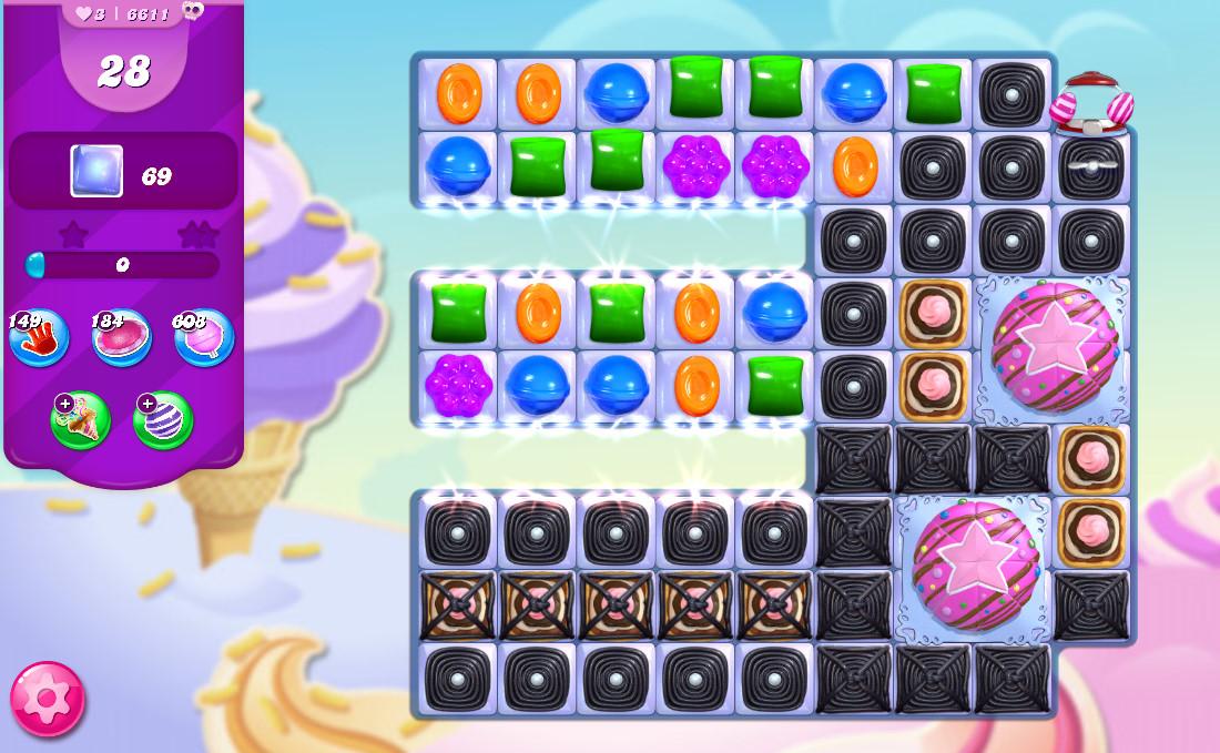 Candy Crush Saga level 6611