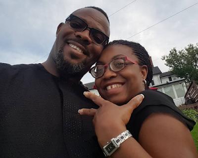 Popular Comedian Okey Bakassi & wife celebrate their 15th year Wedding Anniversary.
