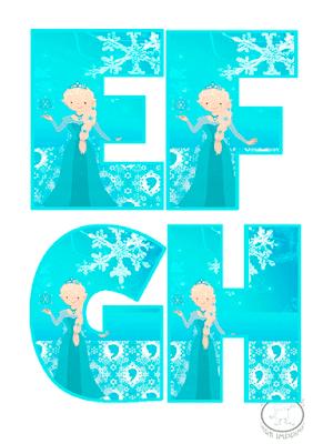 abecedario de frozen