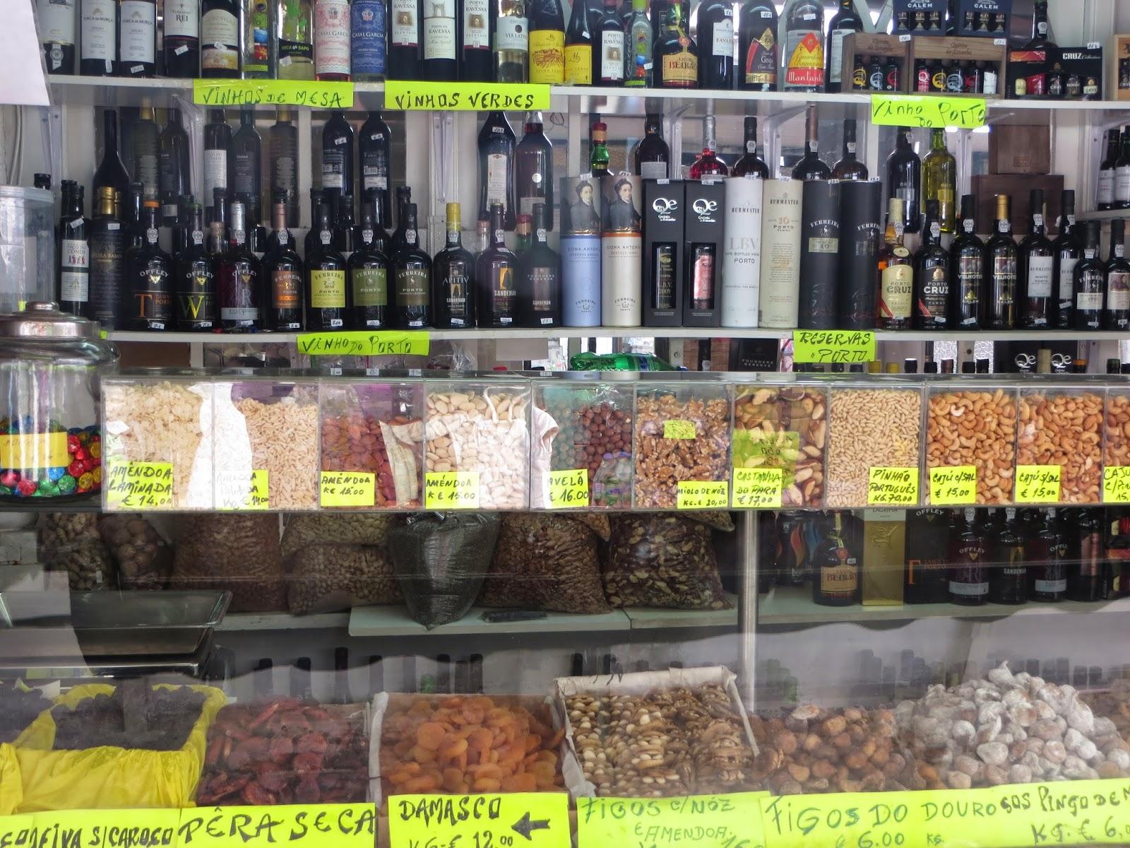 bolhao market nuts porto portugal