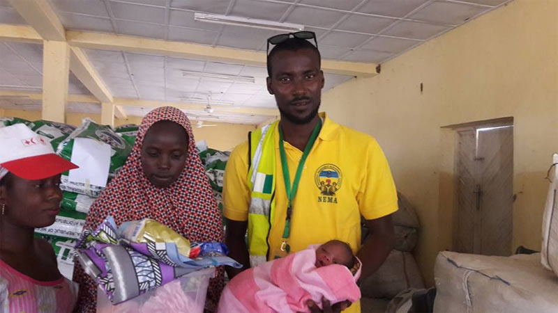 Woman delivers baby at IDP camp Yola