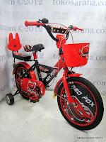 2 Sepeda Anak Red Fox 16-1108-9 Cap Sedan 16 Inci
