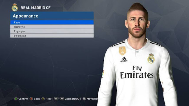 Sergio Ramos New Face V4 PES 2017