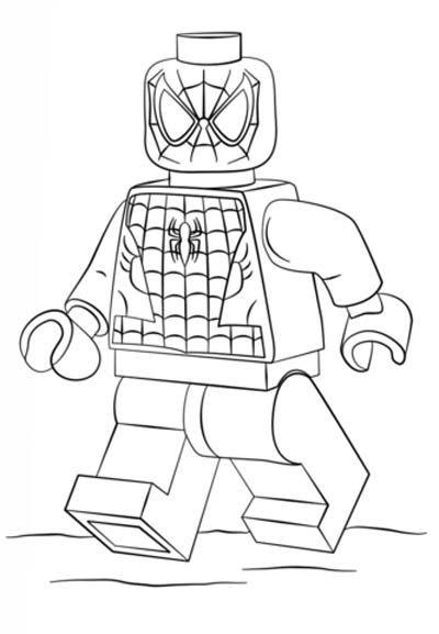 Tranh tô màu Lego người Nhện 5