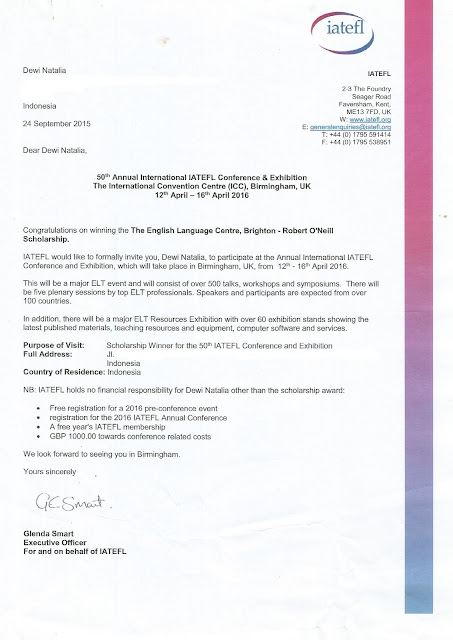 Surat Undangan IATEFL Conference