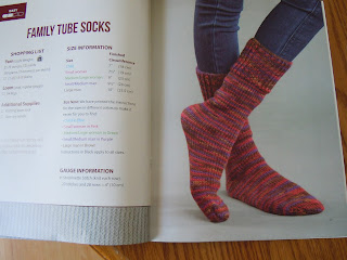 Family socks to make using an Oval Loom