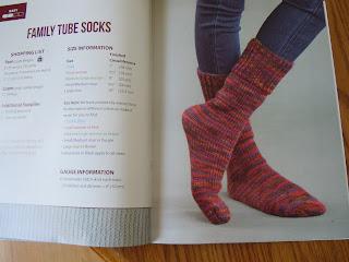 Family socks to make using an Oval Loom