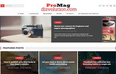 Template Terbaru 2017 ProMag Blogger Seo Responsive Download Gratis