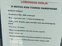 Lowongan kerja Padang Teknisi Handphone