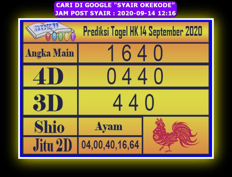 Kode syair Hongkong Senin 14 September 2020 247