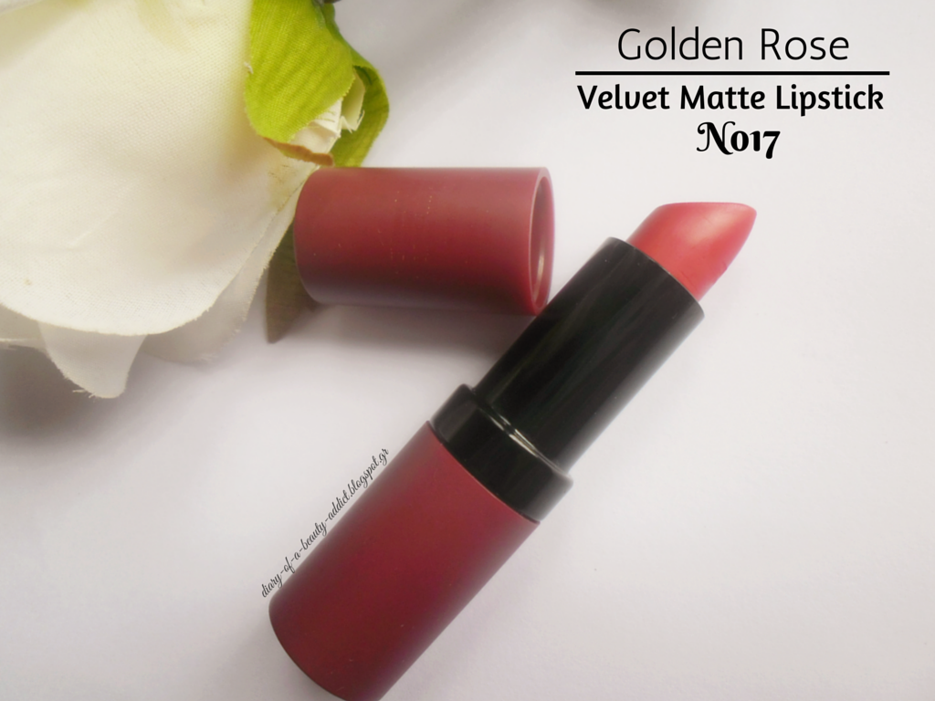 Golden Rose Velvet Matte Lipstick-Νο17 : Swatch Day