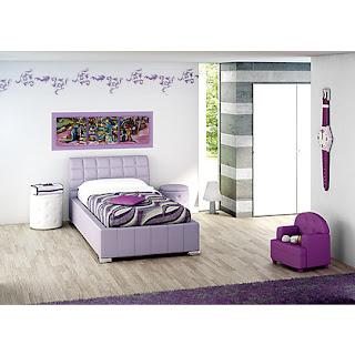 Habitación lila cuarto