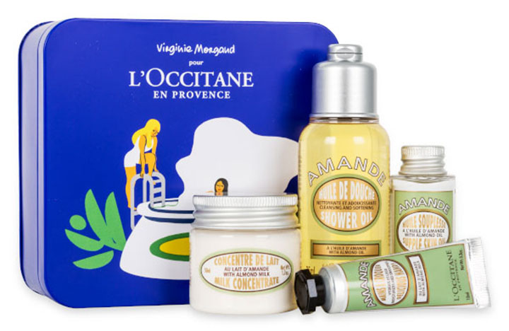 L'Occitane delicious almond tin gift set - liverpool beauty blogger