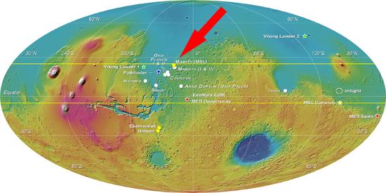 Mapa de Marte - Mawrth Vallis 1