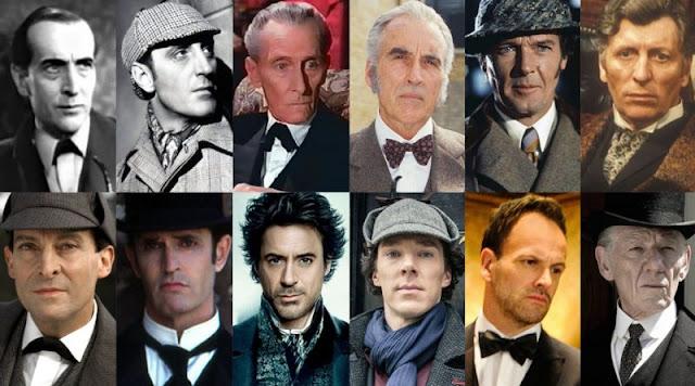 Multiple Sherlock Holmes actors