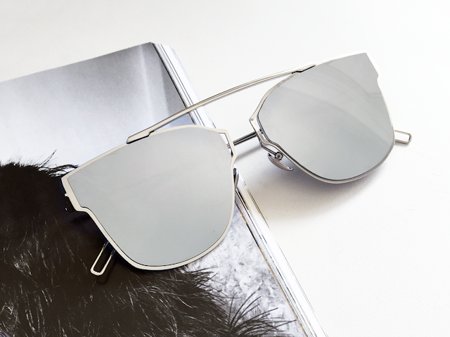 Coconut Lane Miami Silver Sunglasses
