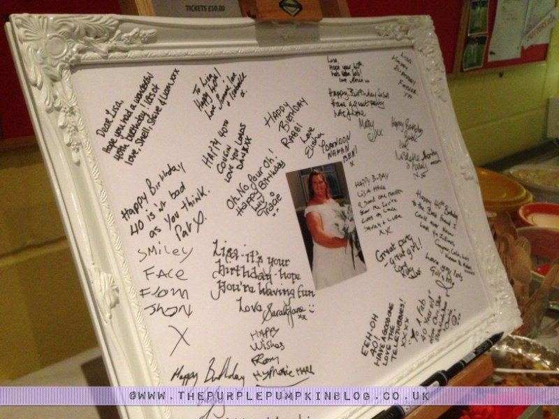 Signing Frame For Guests To Leave Well Wishes The Birthday Girl
