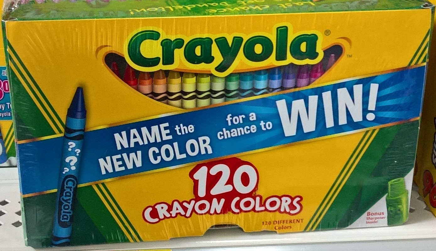 the crayon blog dandelion retires and a new blue color is about to