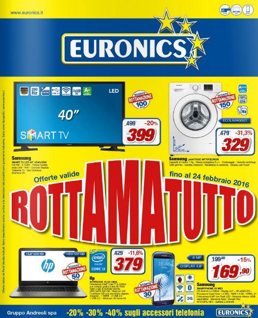 Volantino Euronics Andreoli - 11-24 Febbraio 2016 - Ultimo - Nuovo