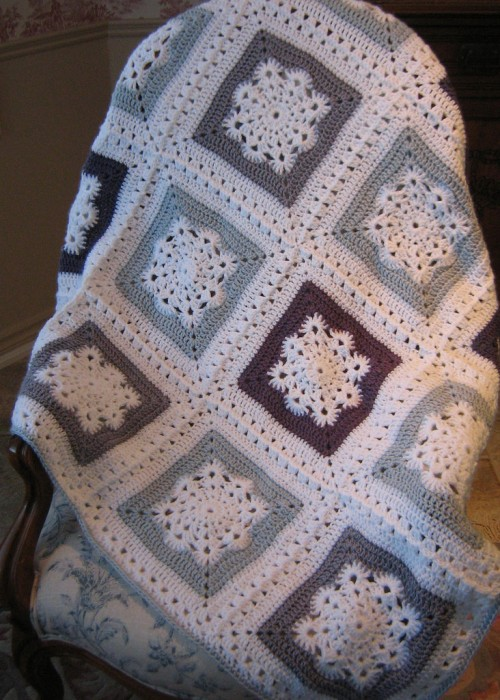 Woolly's Snowflake Square - Free Crochet Pattern