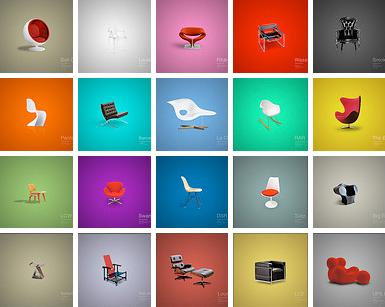 Midcentury chair desktop wallpaper How About Orange