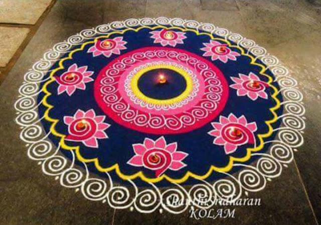 Amazing Rangoli Designs for New Year 2016
