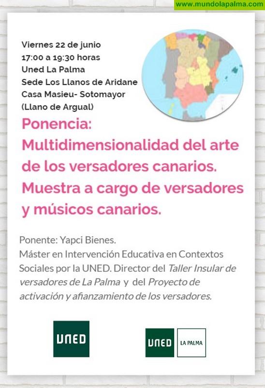 """UNED La Palma clausura el curso """"Manifestaciones de poesía oral improvisada en el folklore del sur de España"""" con una ponencia sobre """"El arte de los  versadores"""""""