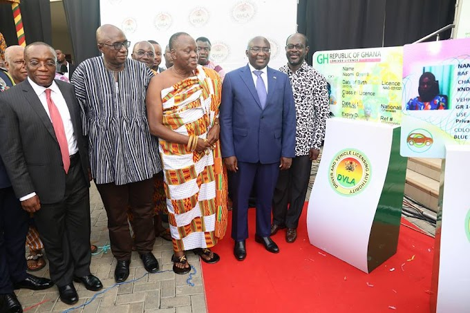 Ghana is on the road to modernization with the introduction of the new DVLA card - Vice President Bawumia