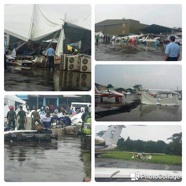 Bandara Pangkalan Militer di Jakarta yang Jatuh ke Tangan Perusahaan Asing Kemarin Porak-poranda Diserbu Angin Kencang, Peringatan Allah?