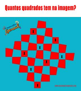 Quantos quadrados tem na imagem? Teste sua visão!