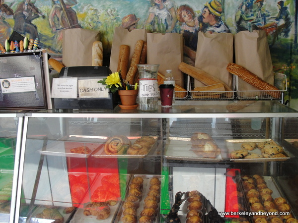 pastry case at North Beach Baking Co. of San Francisco