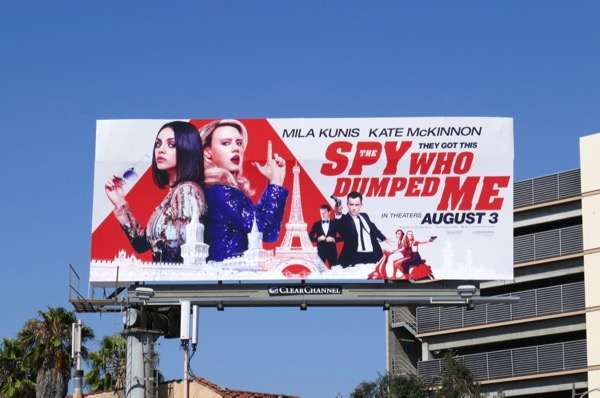 Spy Who Dumped Me film billboard