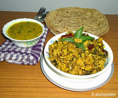 Cauliflower and sprouted moong sabzi image