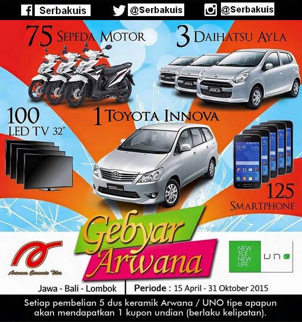 Undian Gebyar Arwana Berhadiah 4 Mobil, 75 Motor, dll