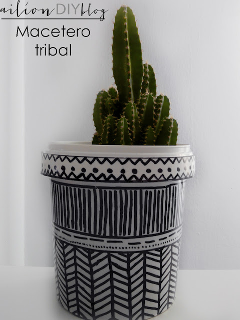macetero diy tribal