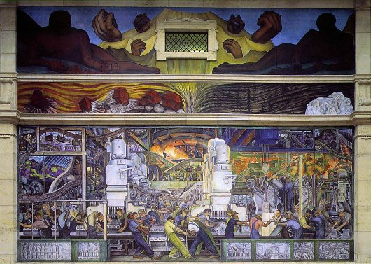 Diego Rivera - Detroit Industry Murals, North Wall, 1932-33. Detroit Institute of Arts.