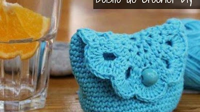 Bolsito de Crochet con medio Granny