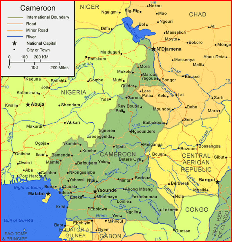 Cameroon Map - Maps and Clipart on