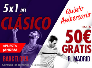 suertia 50 euros gratis Clásico Barcelona vs Real Madrid 28 octubre