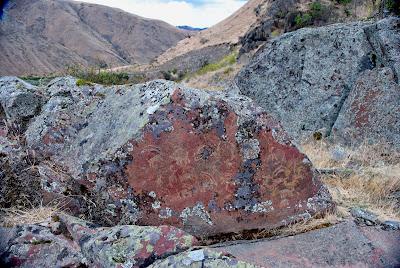 A Nez Perce Petroglyph at Buffalo Eddy on the Snake River