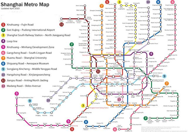Resultado de imagem para metro em shanghai