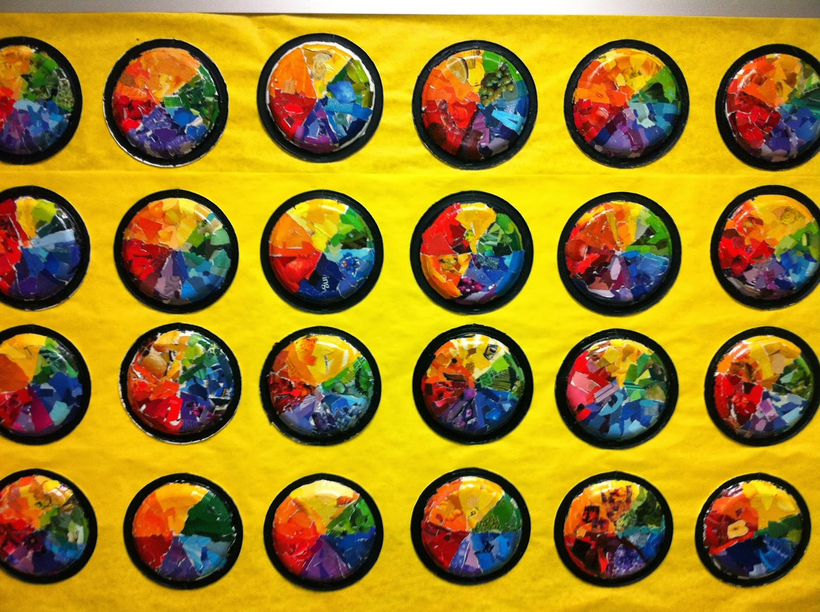 Color Wheel Plates