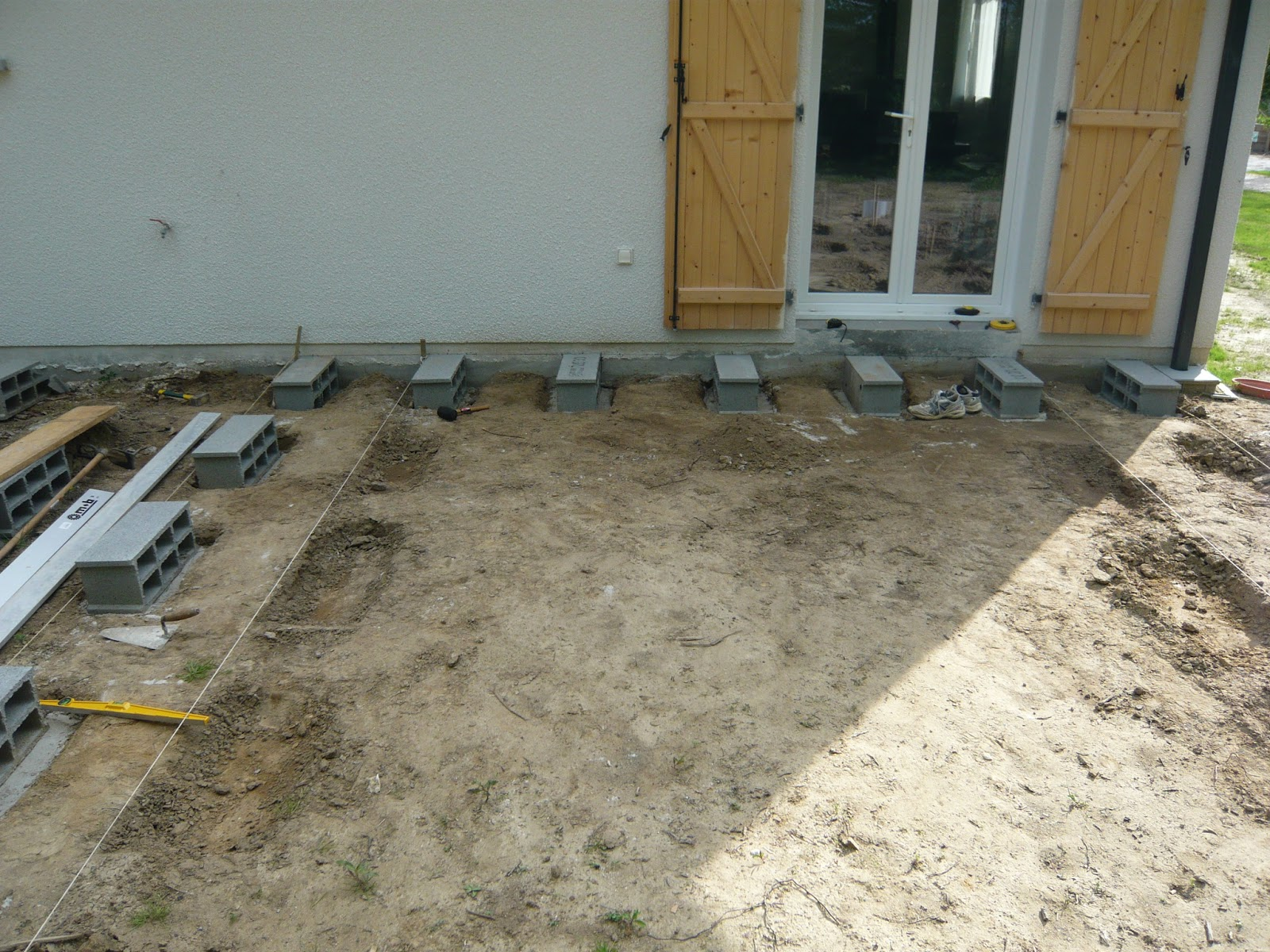 construction maison terrasse en bois. Black Bedroom Furniture Sets. Home Design Ideas