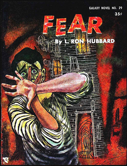 an Ed Emshwiller illustration for FEAR by L. Ron Hubbard