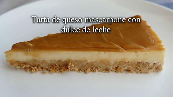 Tarta de queso mascarpone y dulce de leche