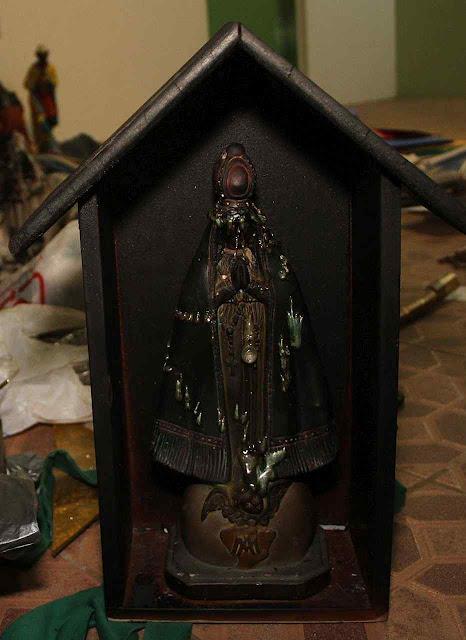 Nossa Senhora Aparecida intacta entre as chamas, Biguaçu, grande Florianópolis