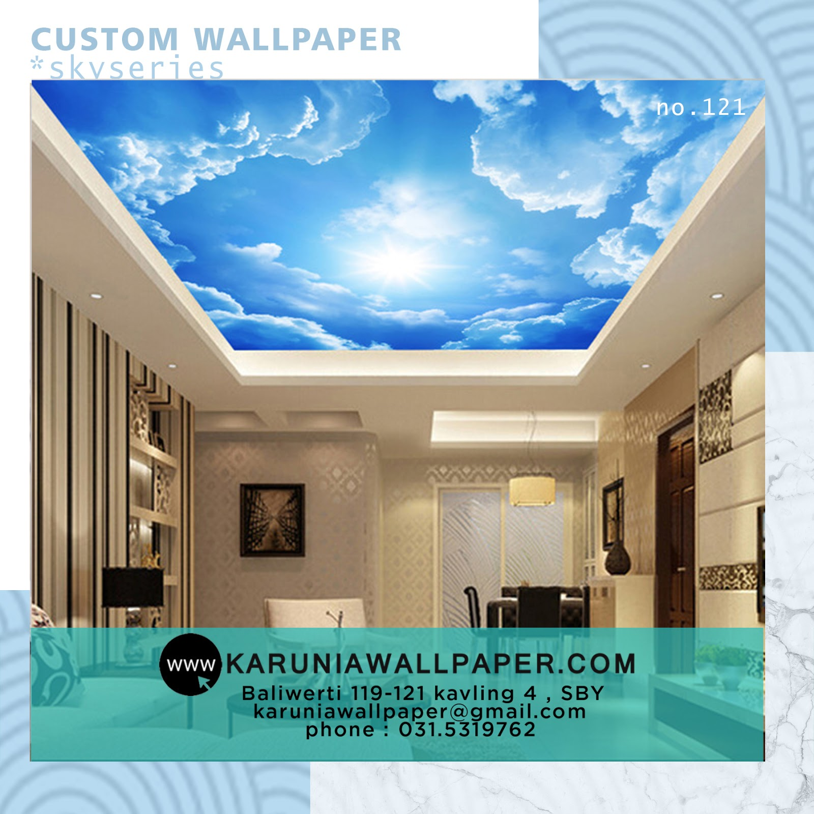 jual wallpaper custom unik surabaya