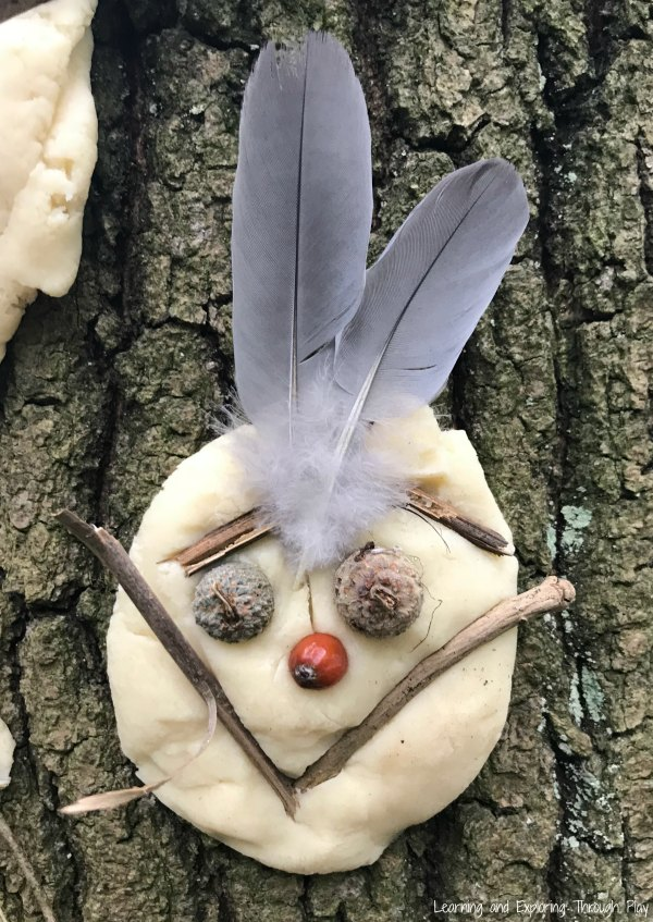 Dough Nature Portraits Forest School Activities