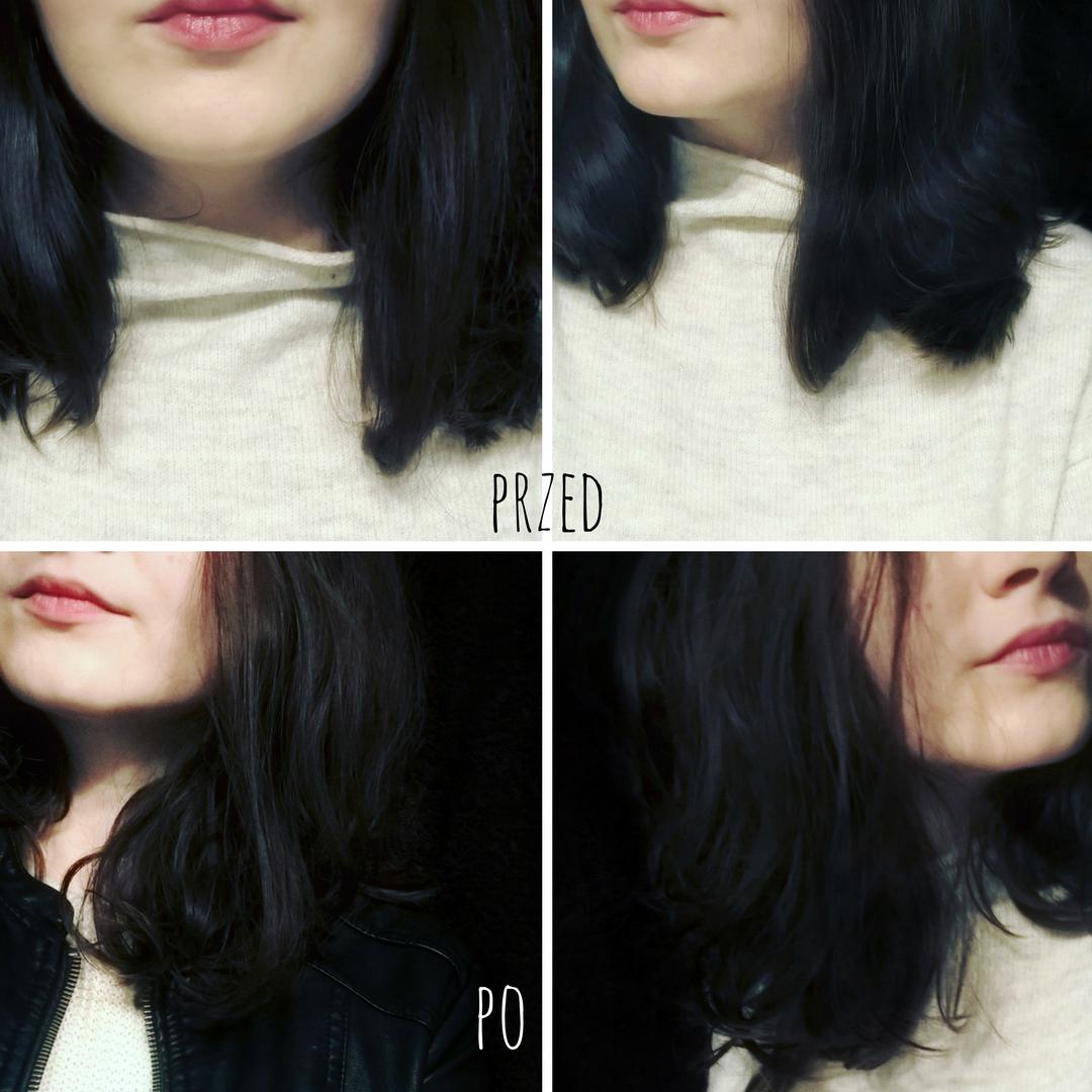 Lush Dirty Styling Cream efect on long hair