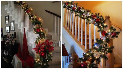 escaleras-decoradas-guirnaldas-navideñas
